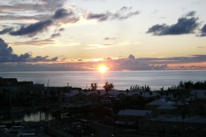 Sunset over Bermuda