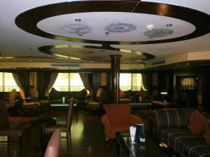 The lounge on board Royal Viking