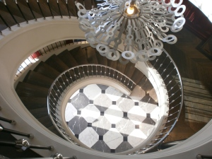Spiral staircase on MS Mayfair